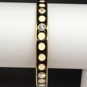 Kate Spade Black & White Polka Dot Bangle Bracelet